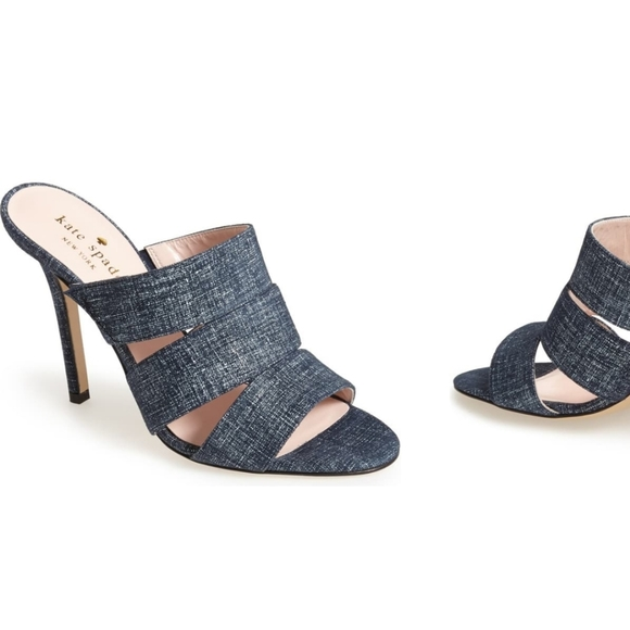 Kate Spade NY Fission Denim Heels